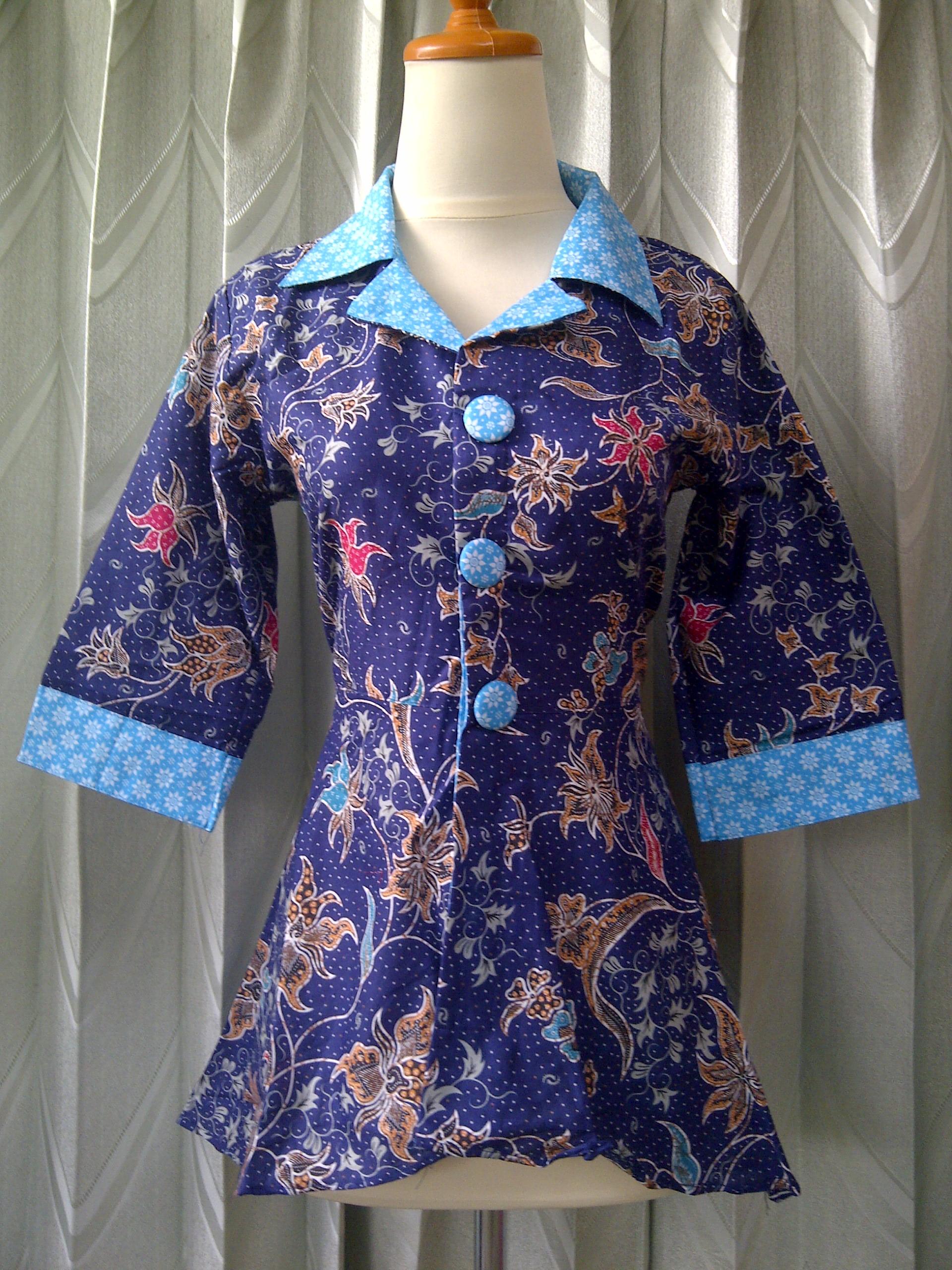 30 Model Gamis Batik Hijau Tosca Fashion Modern dan