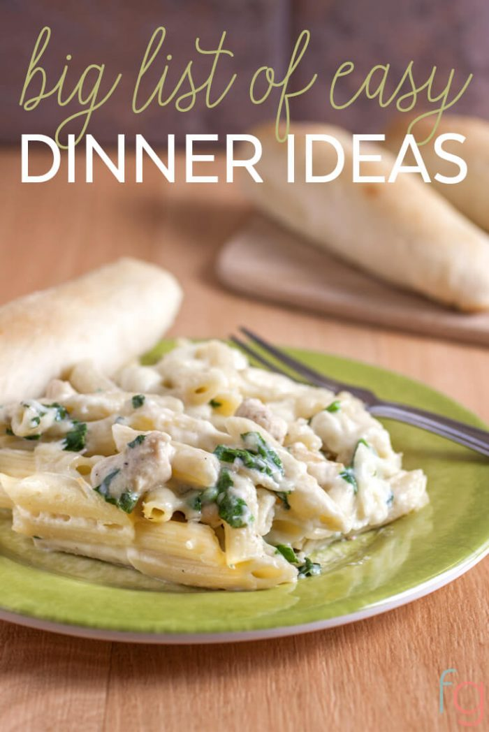 Quick And Easy Meal Ideas Dinner