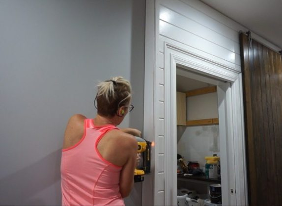 How to install a Plank Wall   tongue and groove   Sawdust Girl     Save