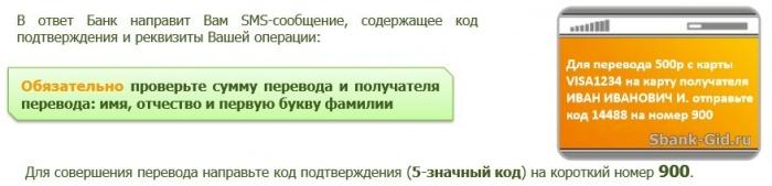 SMS un răspuns de la Sberbank despre sfârșitul traducerii