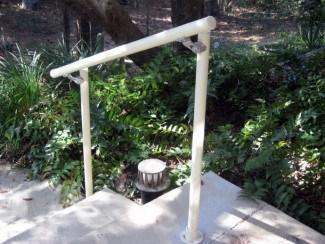5 Diy Metal Stair Railing Examples Simplified Building   Diy Outdoor Stair Railing   Conduit   Landing   Banister   Cast Iron Pipe   Design