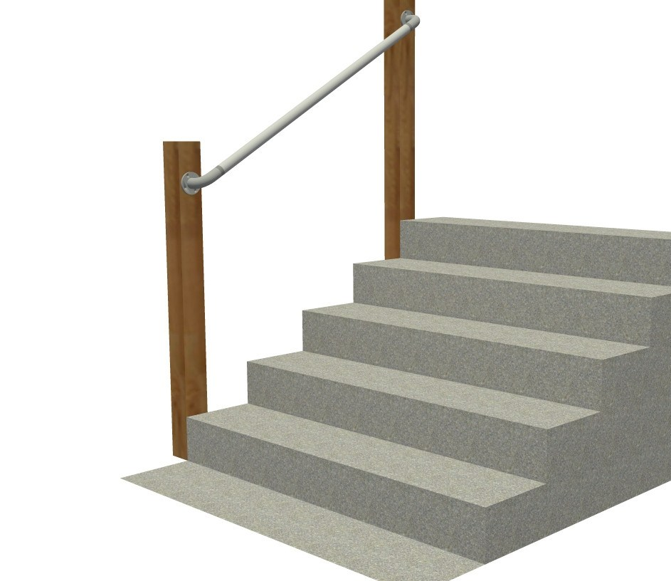 Wall 565 Wall Mounted Stair Railing Easy Install Handrail | Attaching Handrail To Wall | Stair Parts | Brick | Wood | Staircase | Scr*W