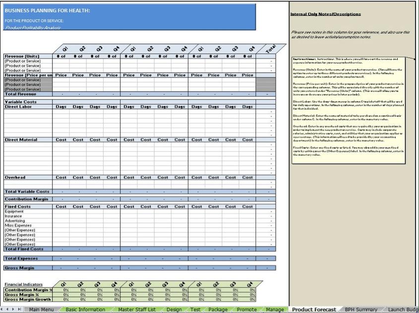 Marketing Mix Worksheet