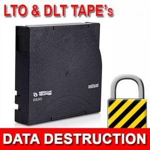 LTO, DLT Magnetic Media Data Destruction