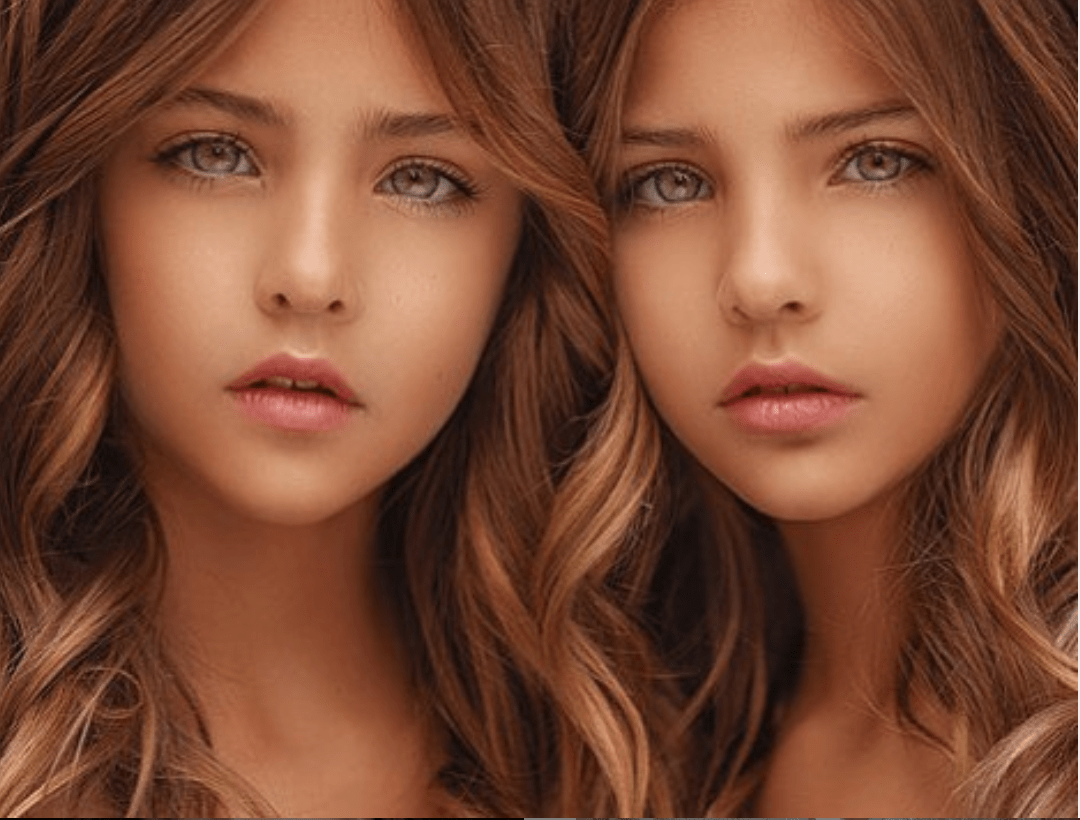 "Sisters dubbed ""the most beautiful twins in the world"""