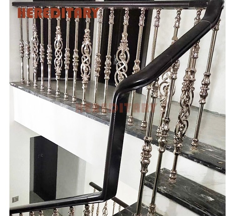 Portable Gold Color Concrete Stair Metal Railing Handrails For   Outdoor Handrails For Concrete Steps   Contemporary   Hand Rail   Precast   Stair   Water Pipe