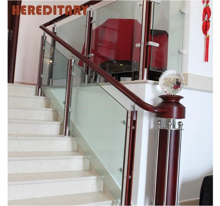 Wood Glass Baluster Handrail Stair Railing Glass Railing Stair | Wooden Handrail With Glass | Oak | Square | Marble | Landing | Nautical Wood