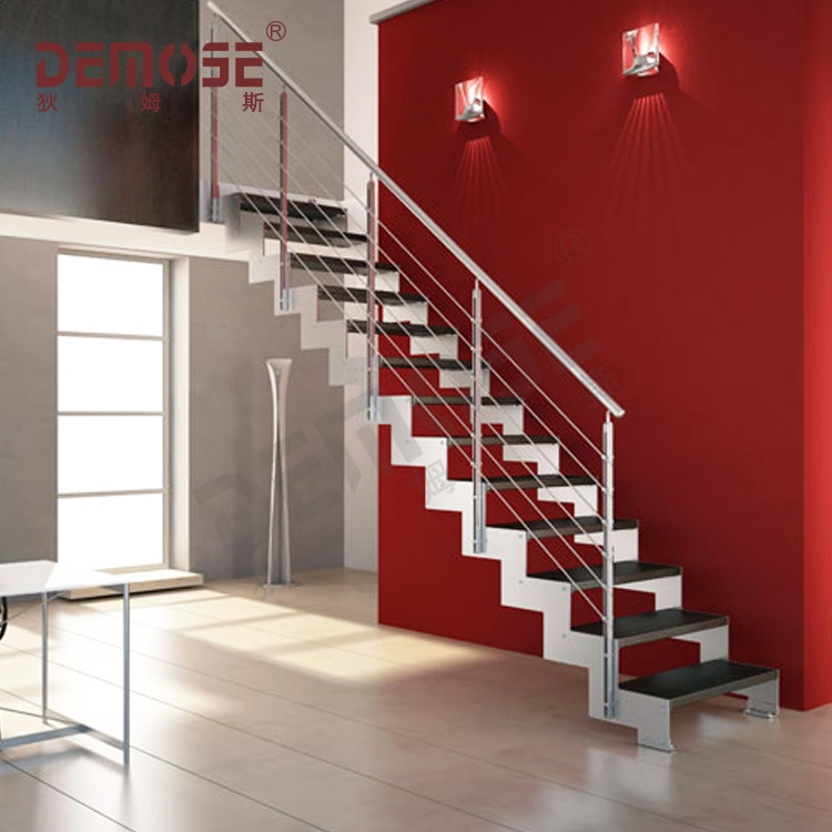 Straight Steel Metal Staircase For Sale Buy Metal Staircase   Metal Staircase For Sale   Prefab   Outdoor   Contemporary   Tangga   Steel Structure