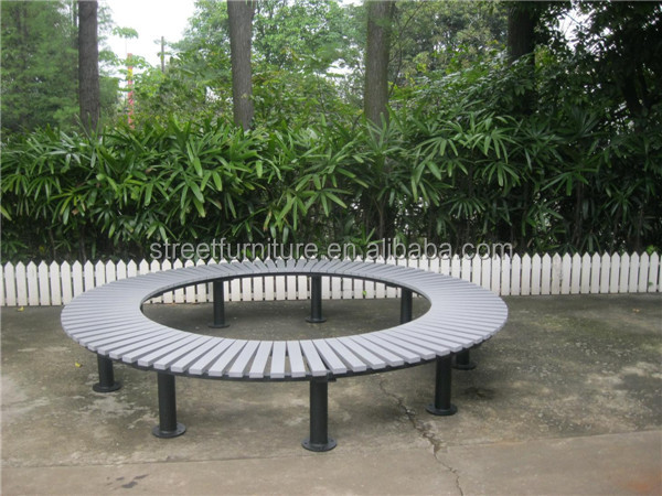 Metal And Recycled Plastic Wood Round Outdoor Garden Tree