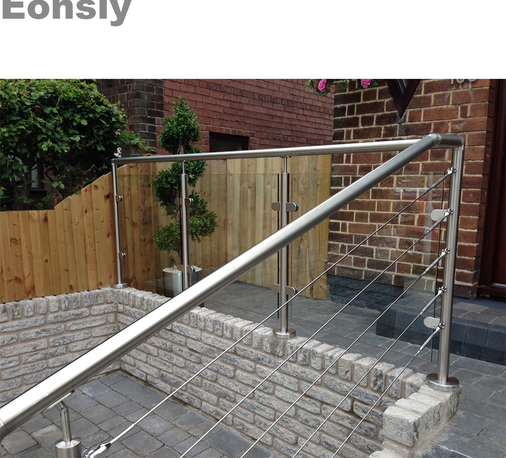 Balustrades Handrails Stainless Steel Handrails For Outdoor | Handrails For Outside Steps | Single Step | Rustic | Aluminum | Front Porch | Walkway