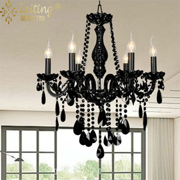 small black crystal chandelier # 35