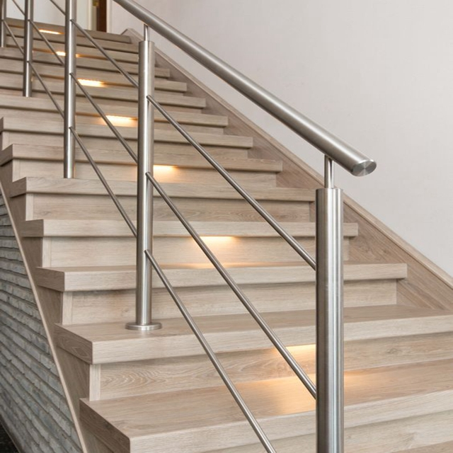 Duplex House Stair Railing With Interior Stainless Steel Railing   Steel Handrails For Stairs   Glass   Hand   Stainless Steel   Metal   Wall Mounted