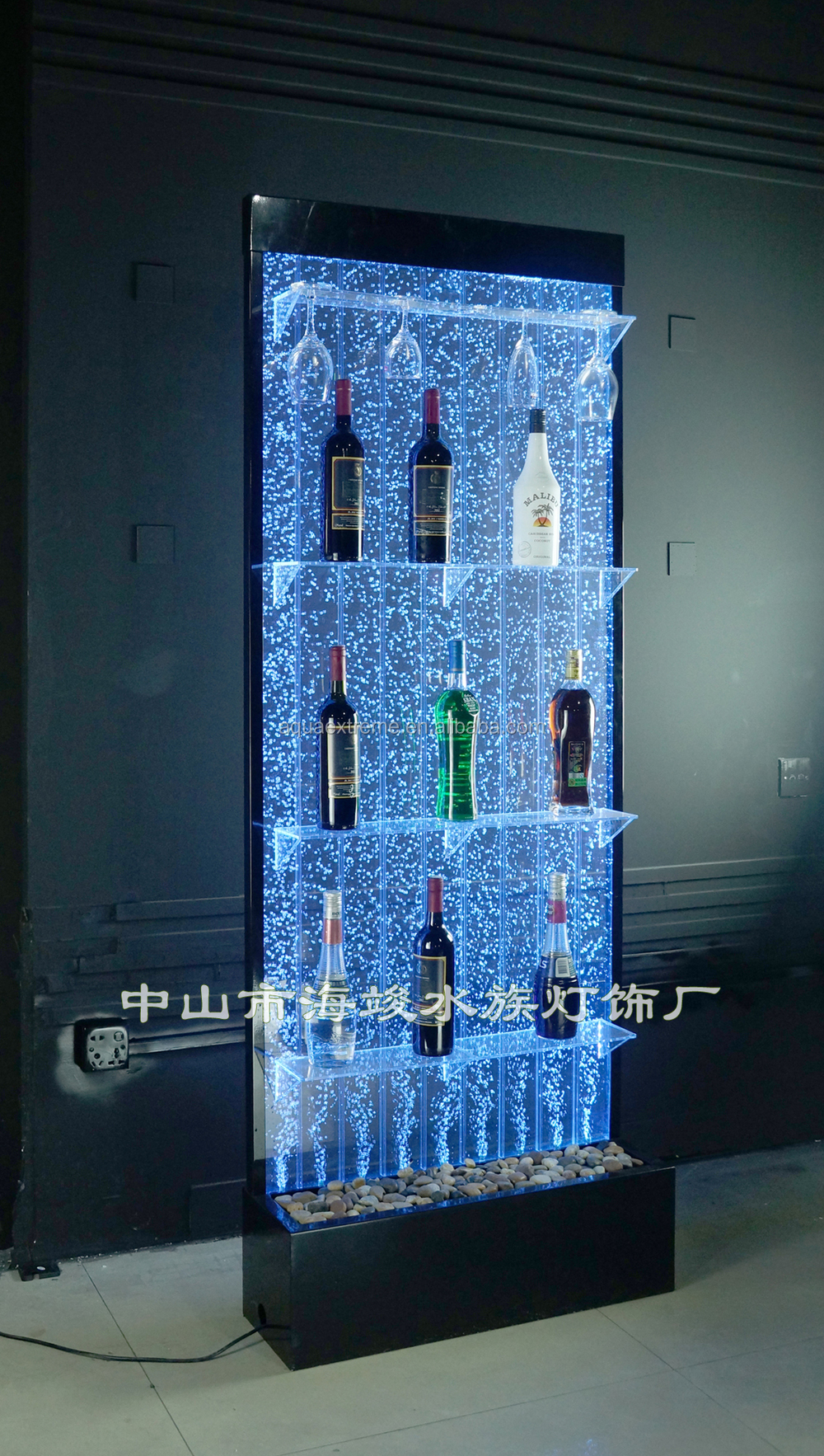 Led Lighting Bubble Water With Color Changing Liquor