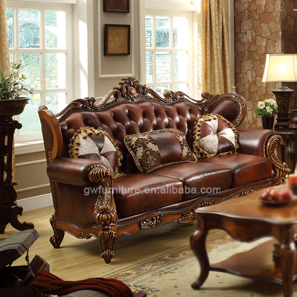 Leather Sofa Set Living Room