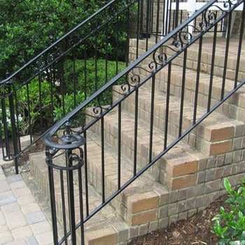 2018 Wrought Iron Stairs Decorative Outdoor Hand Rails Baluster | Wrought Iron Hand Railing Exterior | Cast Iron | Steel | Steps | Deck | Iron Stair Rail