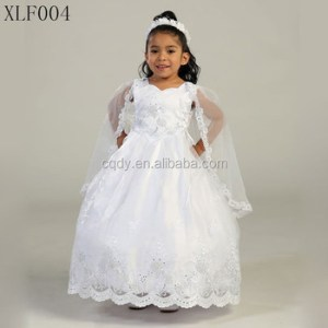 2015 Wholesale White First Communion Dresses Girls With Cape First     2015 wholesale white first communion dresses girls with cape first baby  girl christening gowns white christening