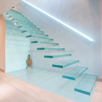 Glass Staircase Laminated Glass Treads Straight Floating Staircase   Glass Stair Treads Cost   Floating Staircase   Handrail   Floating   Steel   Iron Stair