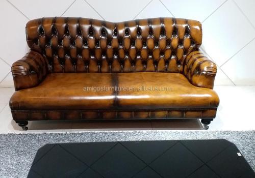 f8fa7781827b Heated European Design Antique Tan Leather Chesterfield Sofa Buy Heated  European Design Antique Tan Leather Chesterfield