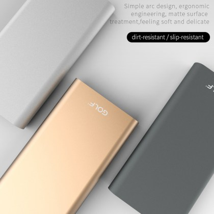 China Electric Power Bank Wholesale                    Alibaba electric product aluminium alloy material two input two output portable  power charge 10000mAh power bank