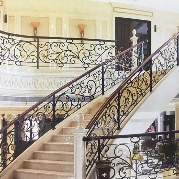 European Luxury Metal Railing Outdoor Stairs Designs In Iron | Wrought Iron Stairs Outdoor | Early 19Th Century | Iron Handrail | Mild Steel | Porch | Steel