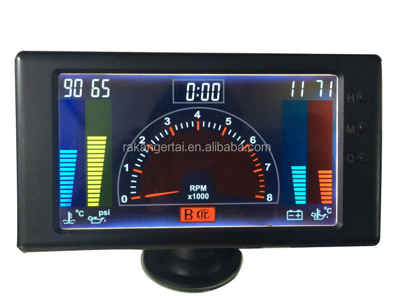 5 Quot Lcd 6 In1multiple Function Gauge Tachometer Volts Clock
