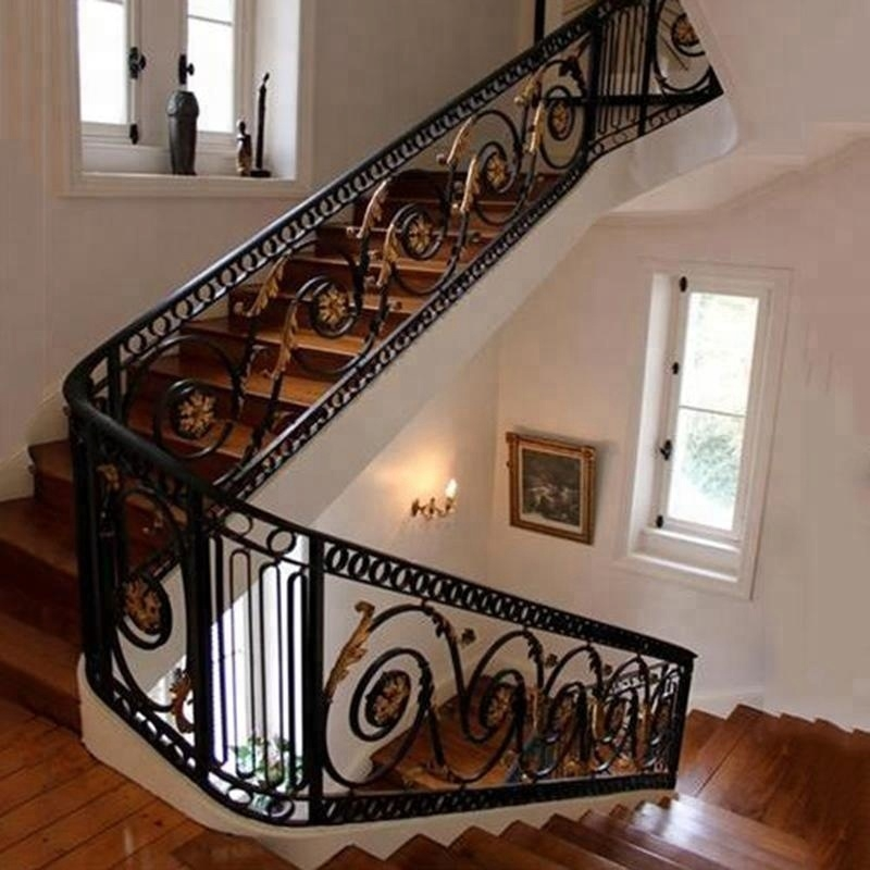 Indoor Wrought Cast Iron Stair Railing Buy Indoor Cast Iron | Cast Iron Handrails For Stairs | Baluster Curved Stylish Overview Stair | 1920'S | Iron Railing | Exterior Stair | Georgian