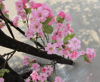 Artificial Plastic Pink Flowers Cherry Blossom Umbrella Shaped Tree     Artificial Plastic Pink Flowers Cherry Blossom Umbrella Shaped Tree For  Wedding Decoration