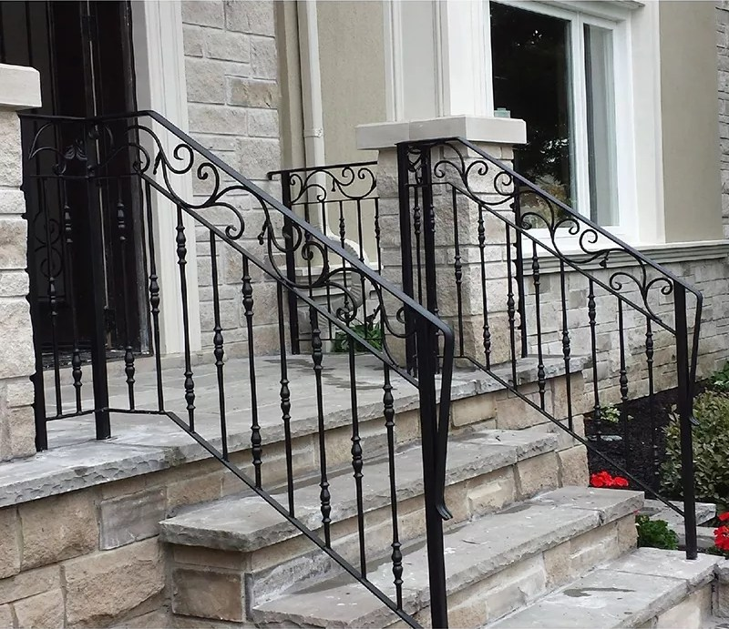 Top Selling Galvanized Outdoor Wrought Iron Stair Railing Buy | Outdoor Iron Stair Railing | Porch | Iron Pipe | Commercial | Galvanized Iron | Redwood