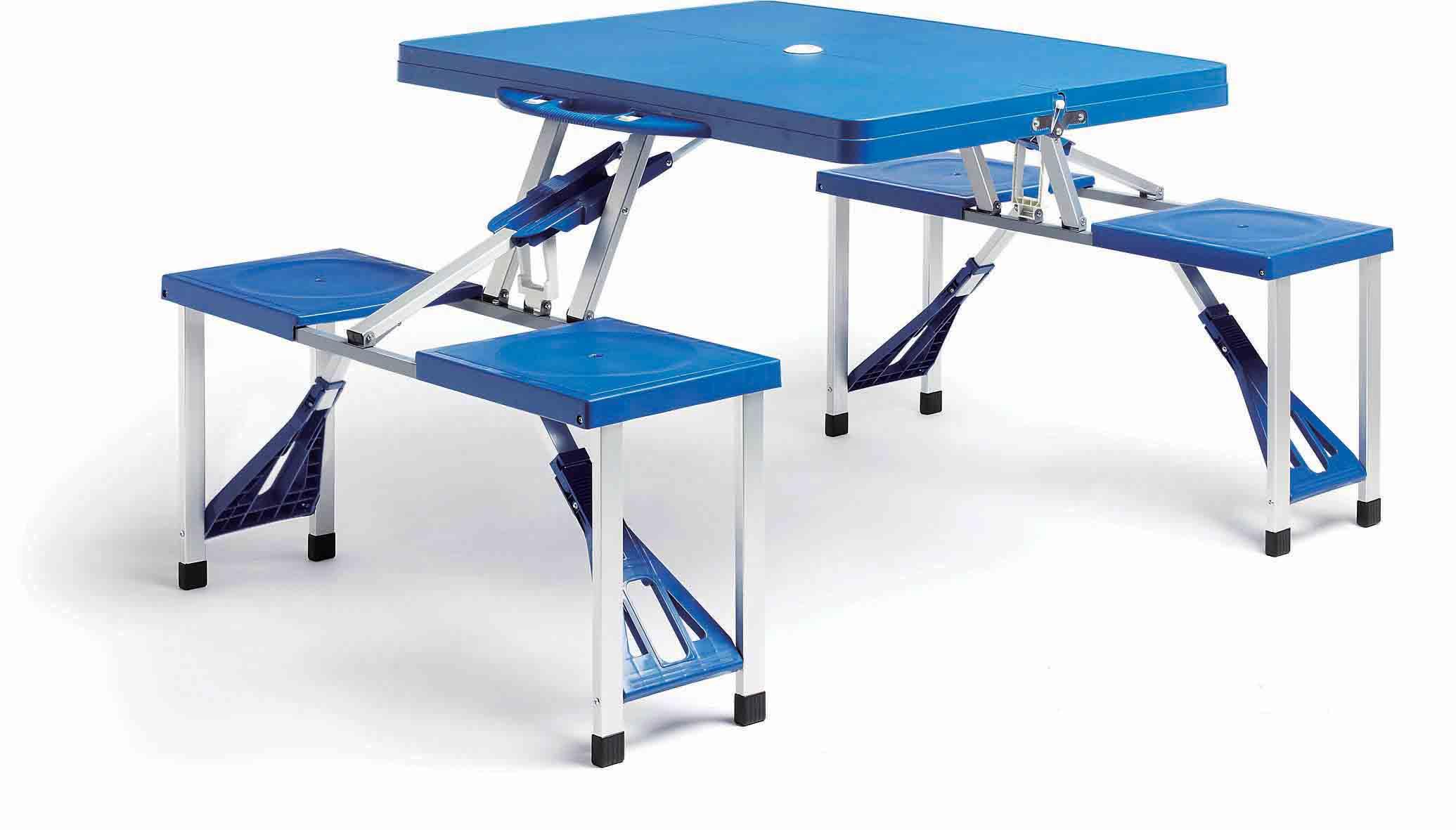 En Plastique Table Pliante De Pique Nique Et Chaises