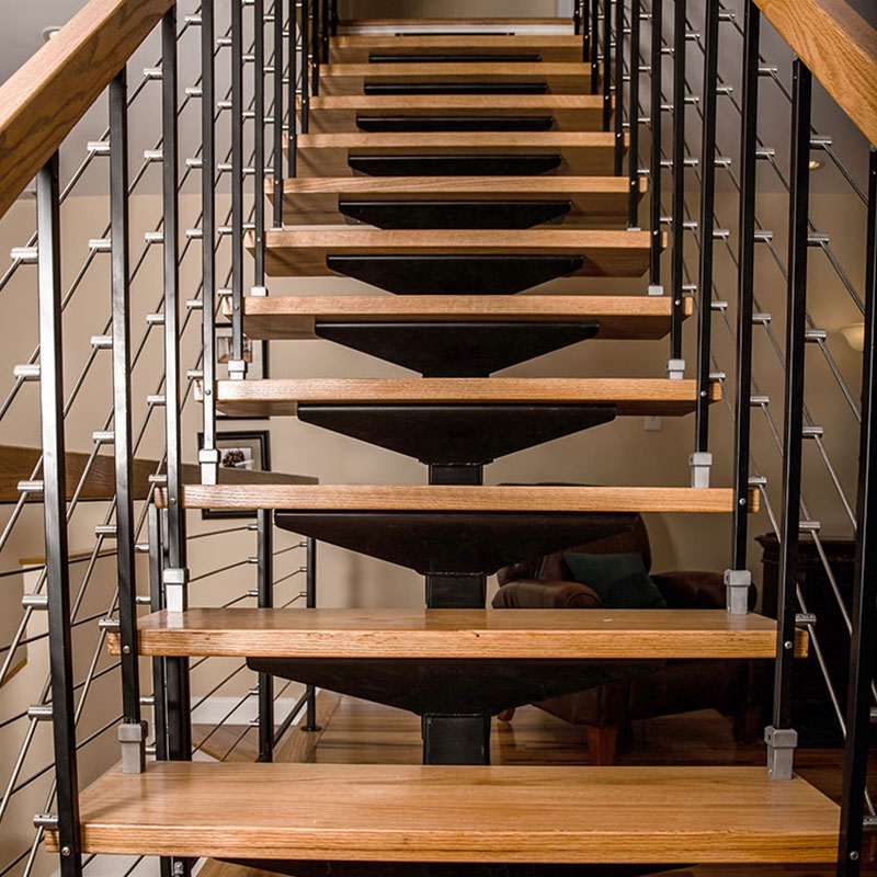 High Quality Indoor Outdoor Luxury Staircase Metal Stainless   Wood And Metal Staircase Design   Staircase Ss Handrail   Steel   Modern   Rustic   Fabrication