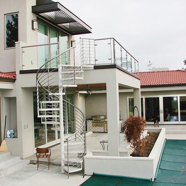 Exterior Circular Stairs Narrow Spiral Staircase Metal Stairs | Exterior Metal Spiral Staircase | Interior | Outdoor | Free Standing | Custom Exterior | Model