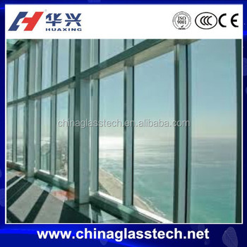 Large Glass Aluminum Frame Commercial Window Price With Ce