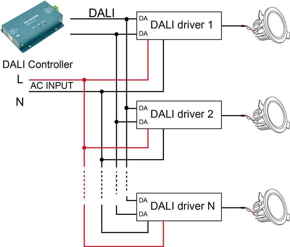 Lighting Circuit Wiring Diagram Dali