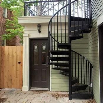 Modern Outdoor Iron Staircase Metal Spiral Stairs View Outdoor | Outdoor Spiral Staircase Near Me | Staircase Ideas | Staircase Kits | Balcony Railing | Oak70 Xtra | Wrought Iron