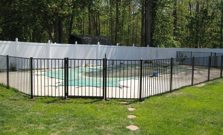 Wrought Iron Gates Wood Panels