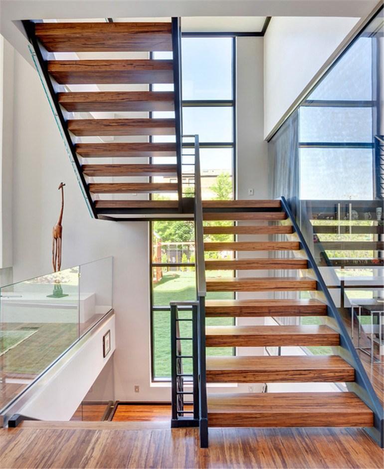 Indoor Duplex Villa Straight Oak Wood Staircase Design Buy   Staircase Design For Duplex   Living Room   Villa   Indian   Modern   Flat
