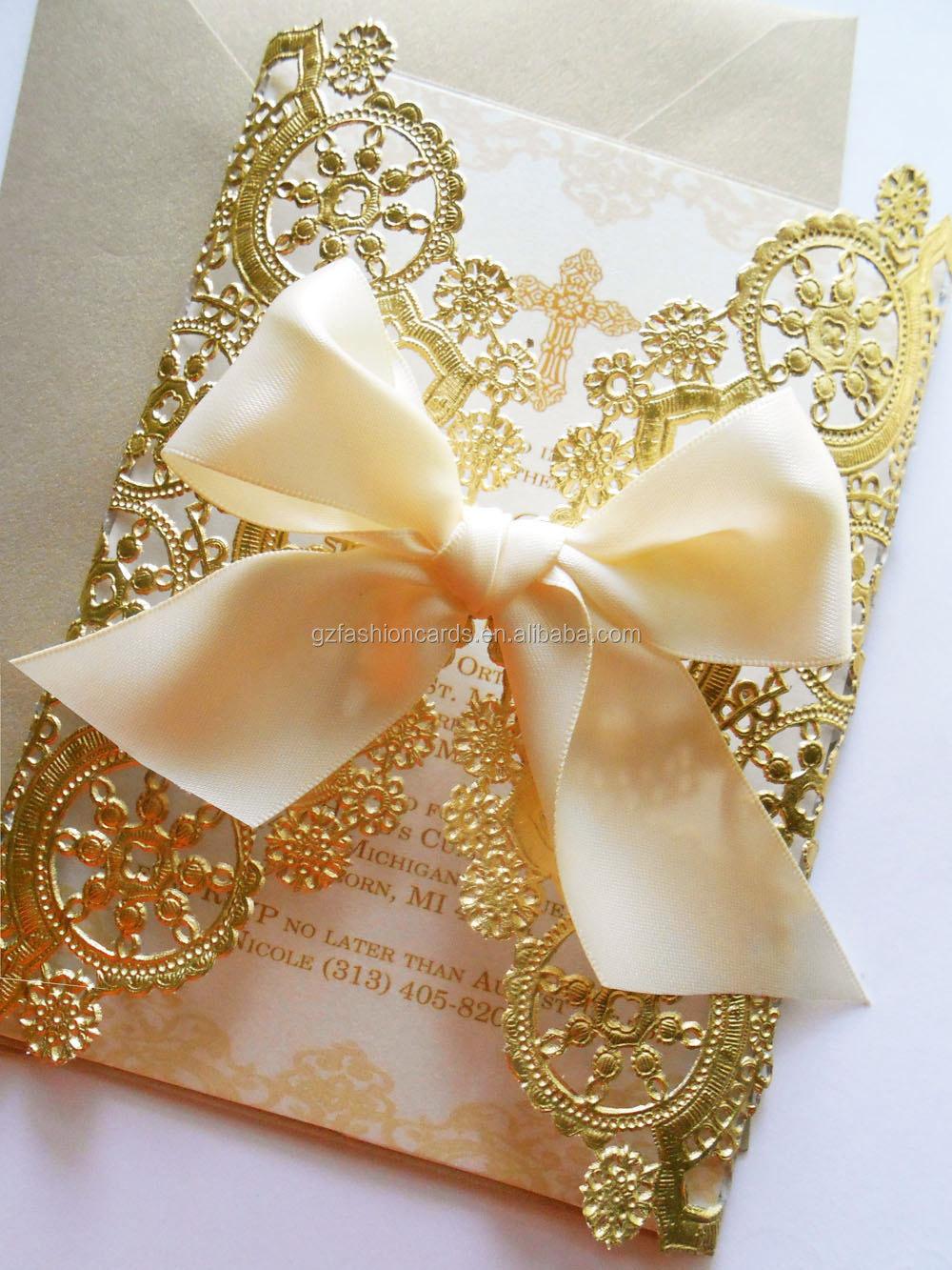 Laser Cut Wedding Invitation Cards