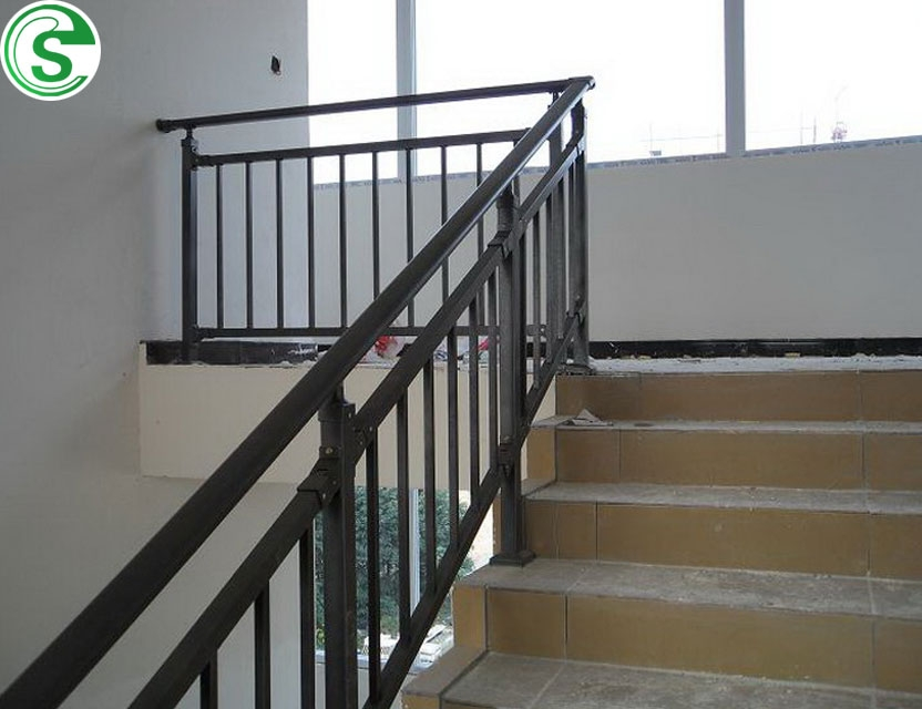 Construction Material Commercial Building Used Iron Stair Railing | Used Steel Stairs For Sale | Seawall | Exterior | Hinged | Black Metal | Industrial
