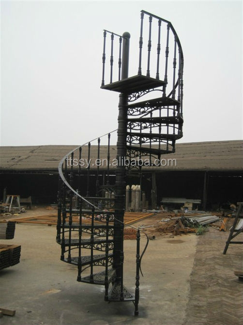 Professinal Wought Outdoor Cast Iron Stair Buy Cast Iron Stair   Exterior Spiral Staircase For Sale   Roof   Outside   Unique Outdoor   Brick Outdoor   Backyard