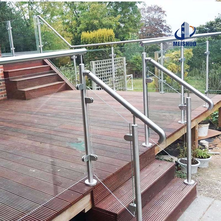 Stainless Steel Porch Railings Handrails With Glass Panel Buy | Stainless Steel Outdoor Handrails | Safety | Stainless Pipe | Hand Rail | Tube | Square