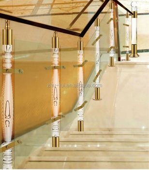 Aluminum Crystal Balusters For Stairs Clear Arcylic Stair Pillar   Clear Handrails For Stairs   Steel   Clear Acrylic   Wood   Riser   Metal