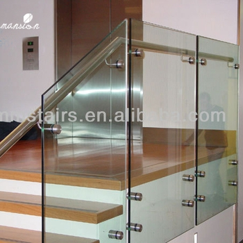 Interior Side Wall Mounted Glass Stair Handrail Design Buy Stair   Wall Mounted Handrail For Stairs   Stair Interior   Brushed Nickel   Thin Glass   Attached Wall   Mounting