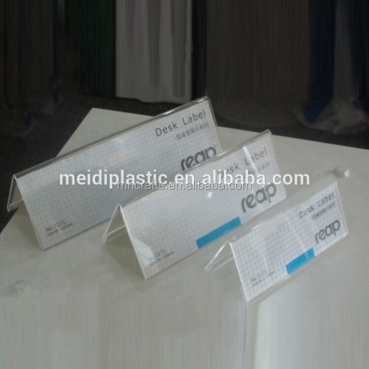 Customized Clear Acrylic Counter Card Holder Clear Acrylic