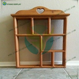 Vintage Home Interior Wood Heart Cutout Country Display Rack Wall     Vintage Home Interior Wood Heart Cutout Country Display Rack Wall Curio  Shelf YM4208W