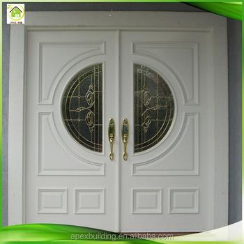 Main Entrance Solid Oak Front Wooden Double Door Designs