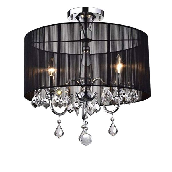 small black crystal chandelier # 10