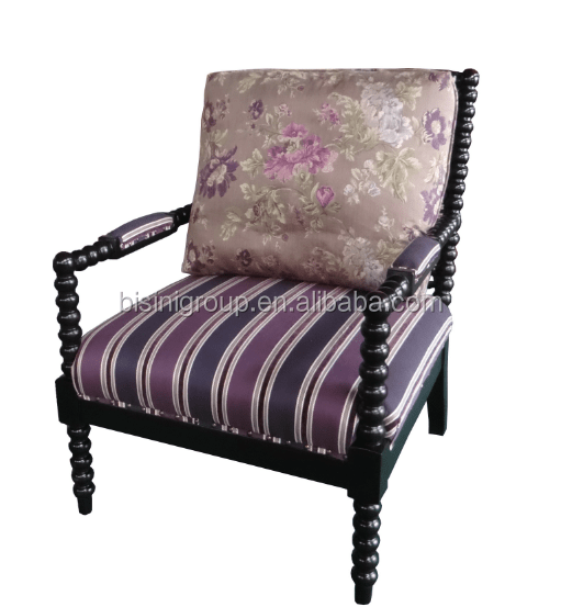 Purple Floral Accent Chair