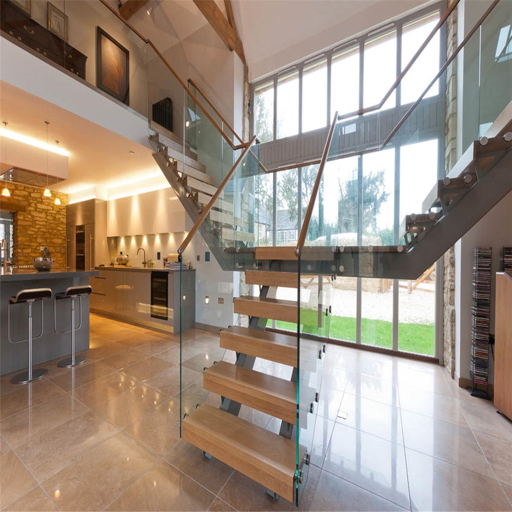Modern Design Straight Glass Staircase With Solid Oak Staircase | Glass And Oak Banister | Minecraft | Traditional | Stair Case | House | Designer