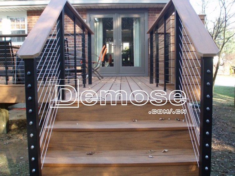 Graceful Black Metal Outdoor Stair Railings Exterior Step Railing | Black Iron Stair Railing | Wrought Iron | Staircase | Beautiful Staircase | Outdoor Handrail Stair | Residential Stair