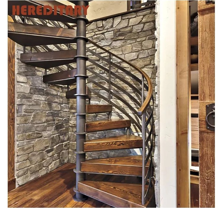 Attic Stairs Thick Wood And Steel Structure Spiral Staircase Buy   Spiral Staircase To Attic   Diy   Basement   Remodeling   Creative   Small